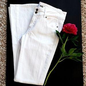 Paige Hidden Hills White Denim Jeans